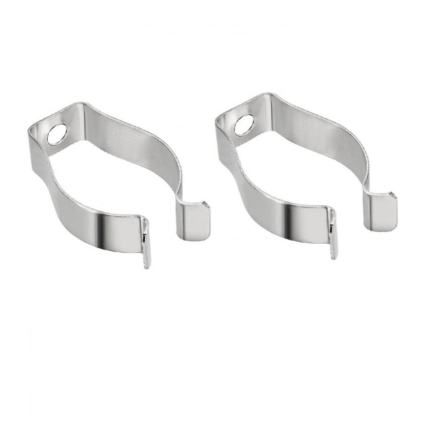 Clip de  Aluminio para Tubos LED T8 (2 pcs)
