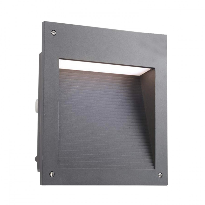 Baliza LED Empotrable  Micenas Square 20W IP65 Gris Urbano LEDS-C4 05-9885-Z5-CL