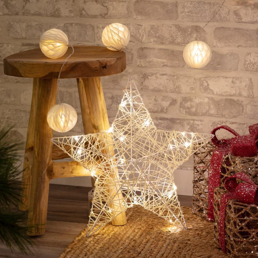 Estrela de Grinalda de luzes LED Irawo