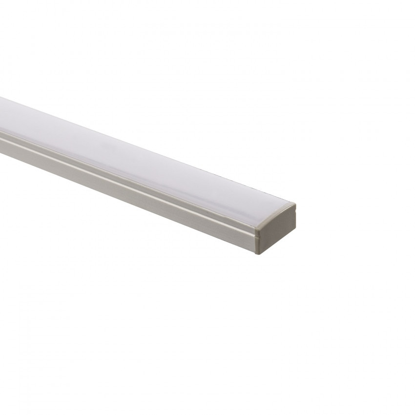 Perfil de Aluminio de Superficie con Tapa Continua para Tiras LED a Medida