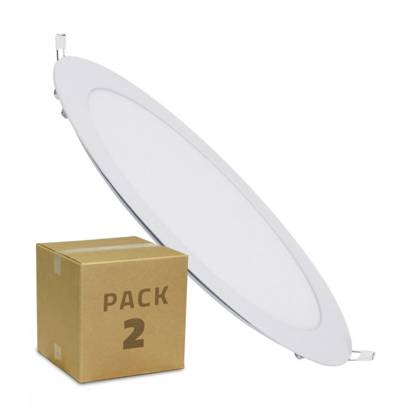 Pack 2 Placa LED Circular 18W Corte Ø 205 mm