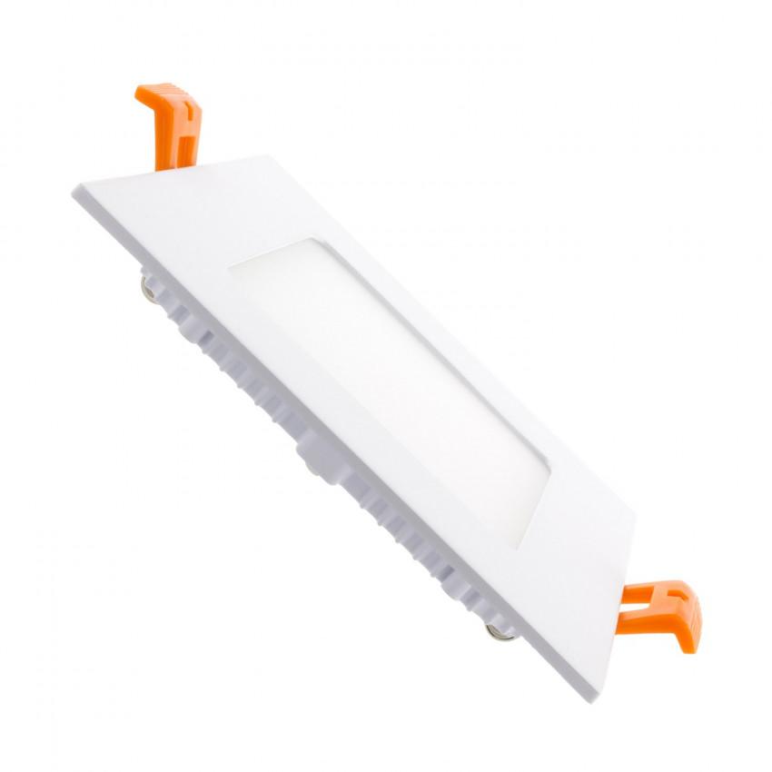 Placa LED Quadrada SuperSlim 12W LIFUD Silver de Corte 152x152 mm