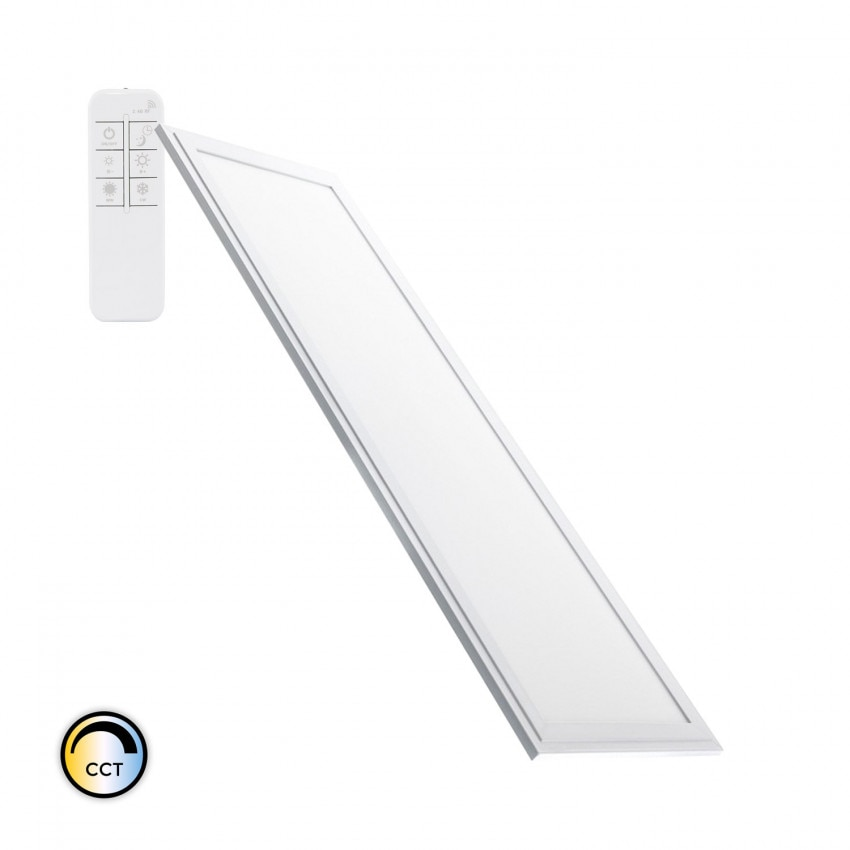 Panel LED 120x30cm 40W 3600lm CCT Seleccionable con Mando