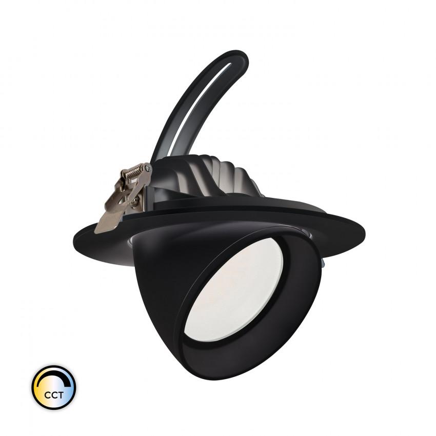 Foco Projector Direccionável Circular LED 38W Preto SAMSUNG 125lm/W CCT Seleccionável LIFUD