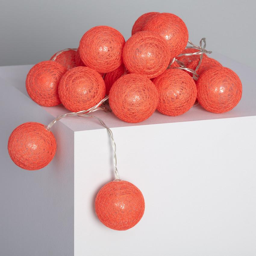Guirnalda 20 Bolas LED Red Sugar 3.15m/4.35m