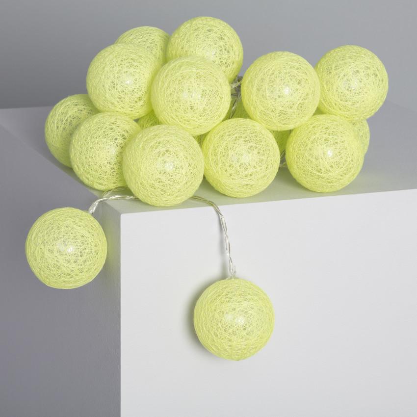 Grinalda 20 Bolas LED Lemon