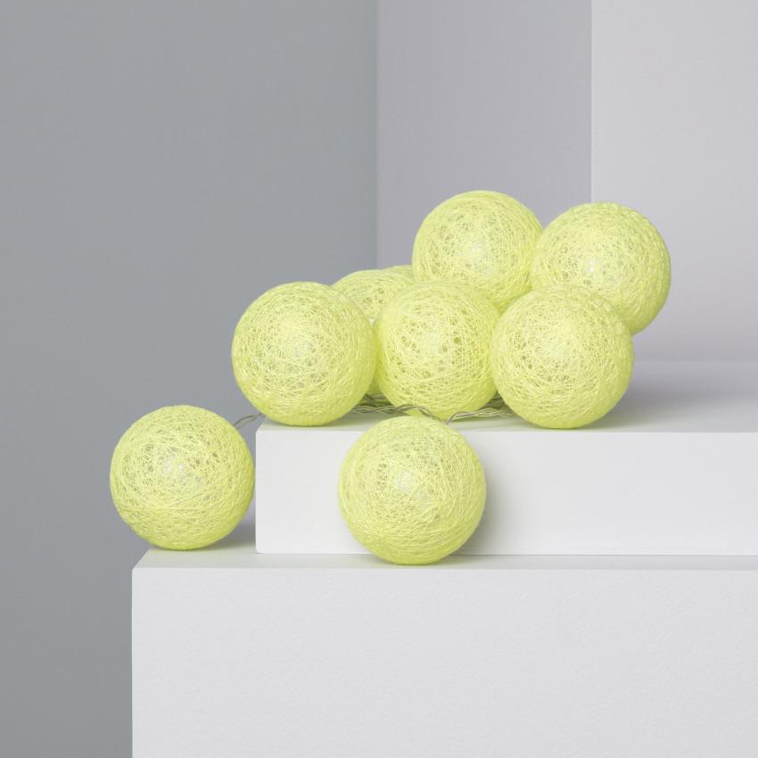 Grinalda 10 Bolas LED Lemon