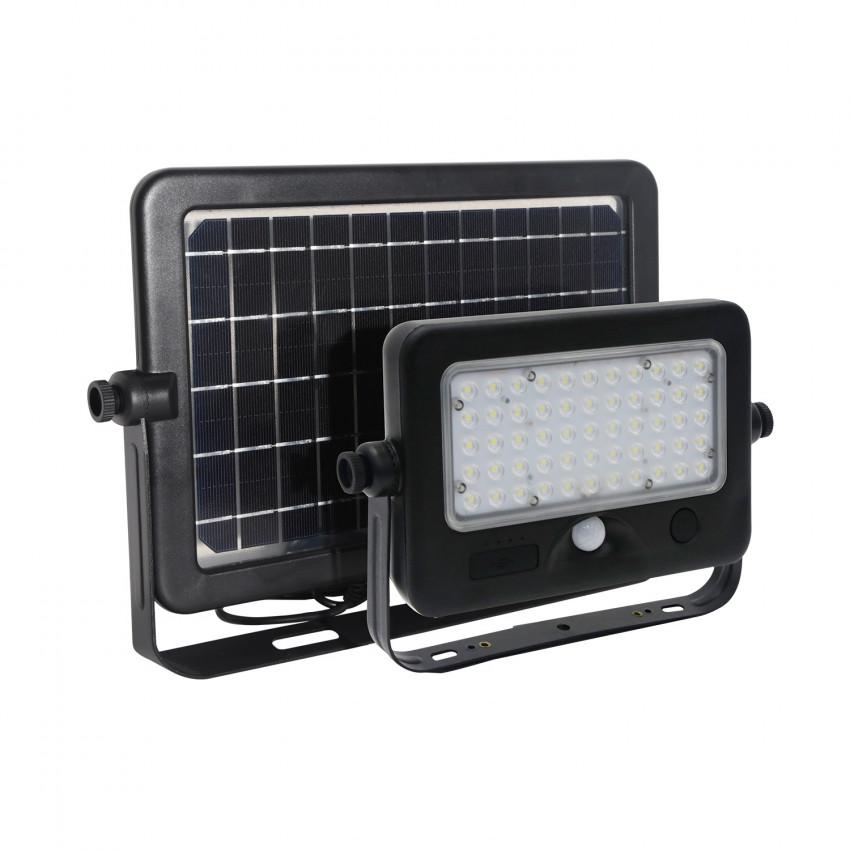 Foco Proyector LED Solar 10W con Sensor de Movimiento PIR y Crepuscular Panel por Separado