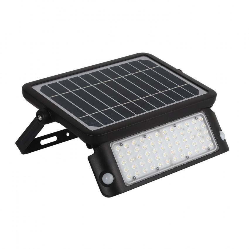 Foco Projector LED Solar com Sensor de Movimento PIR e Crepúsculo 10W