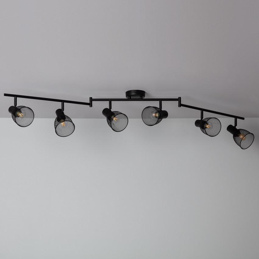 Lámpara de Techo Orientable Grid 6 Focos