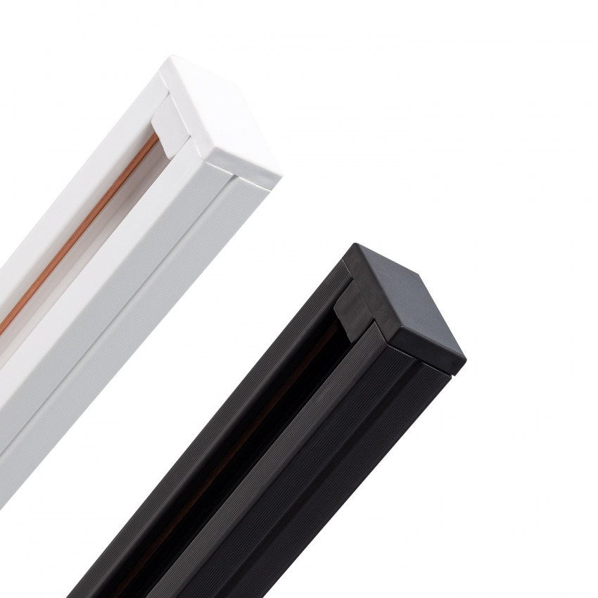 Carril Bifásico PC para Focos LED 1 Metro