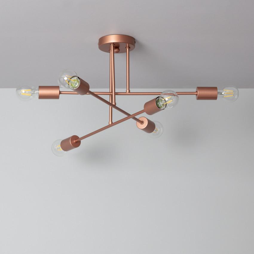 Lámpara de Techo Fimbo 6 Focos