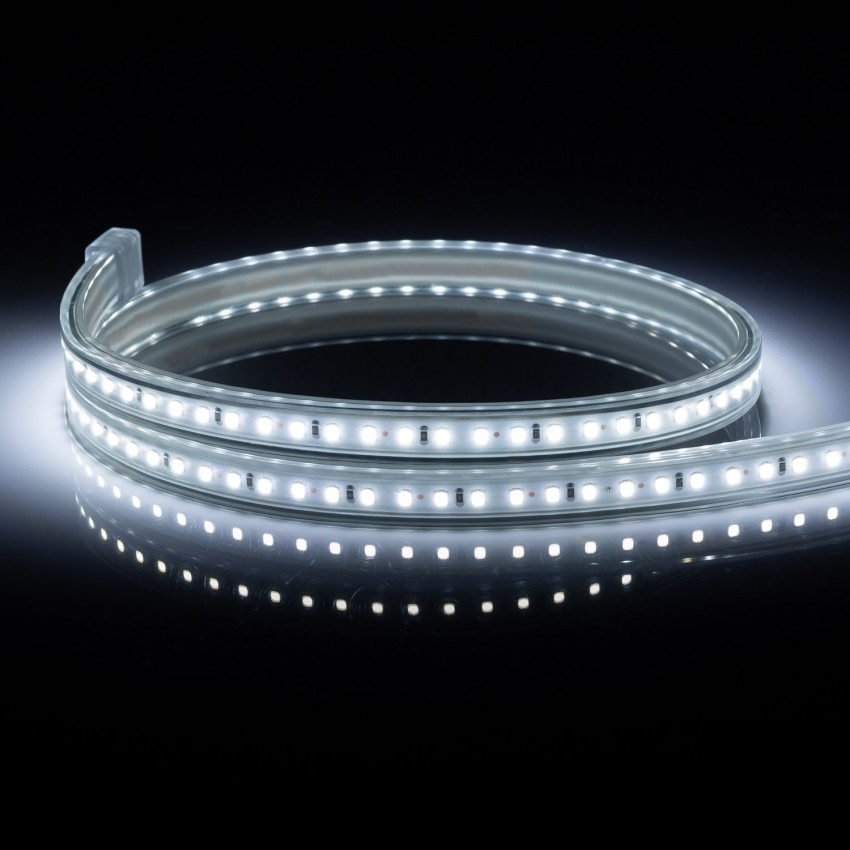 Tira LED 220V AC 120 LED/m Blanco Frío IP65 a Medida Corte cada 50 cm