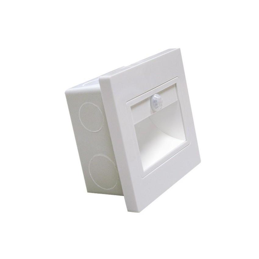 Baliza LED con Sensor PIR Acabado Blanco