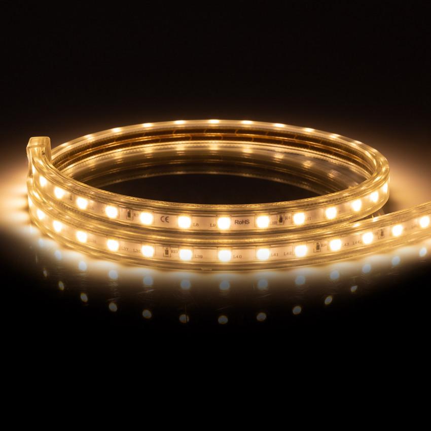 Fita LED Regulável 220V AC 60 LED/m Branco Quente IP65 à Medida