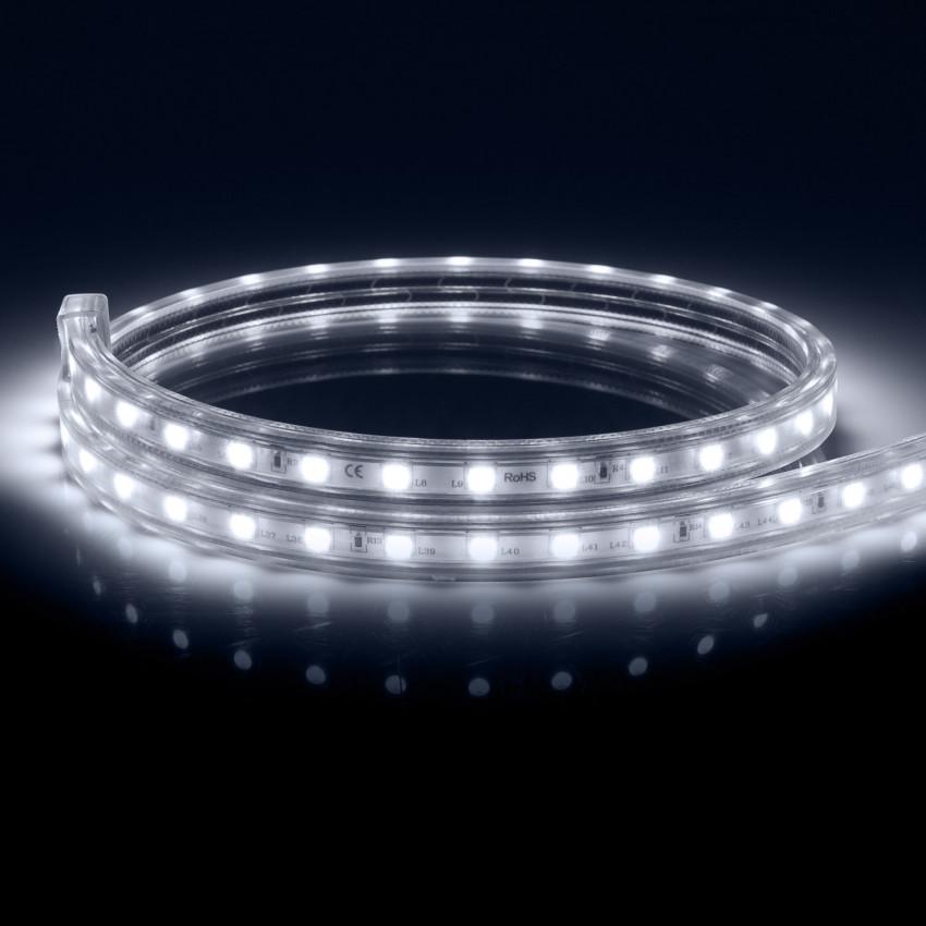 Fita LED Smart WiFi 220V AC 60 LED/m Branco Frio IP65 à Medida  Corte a cada 100 cm