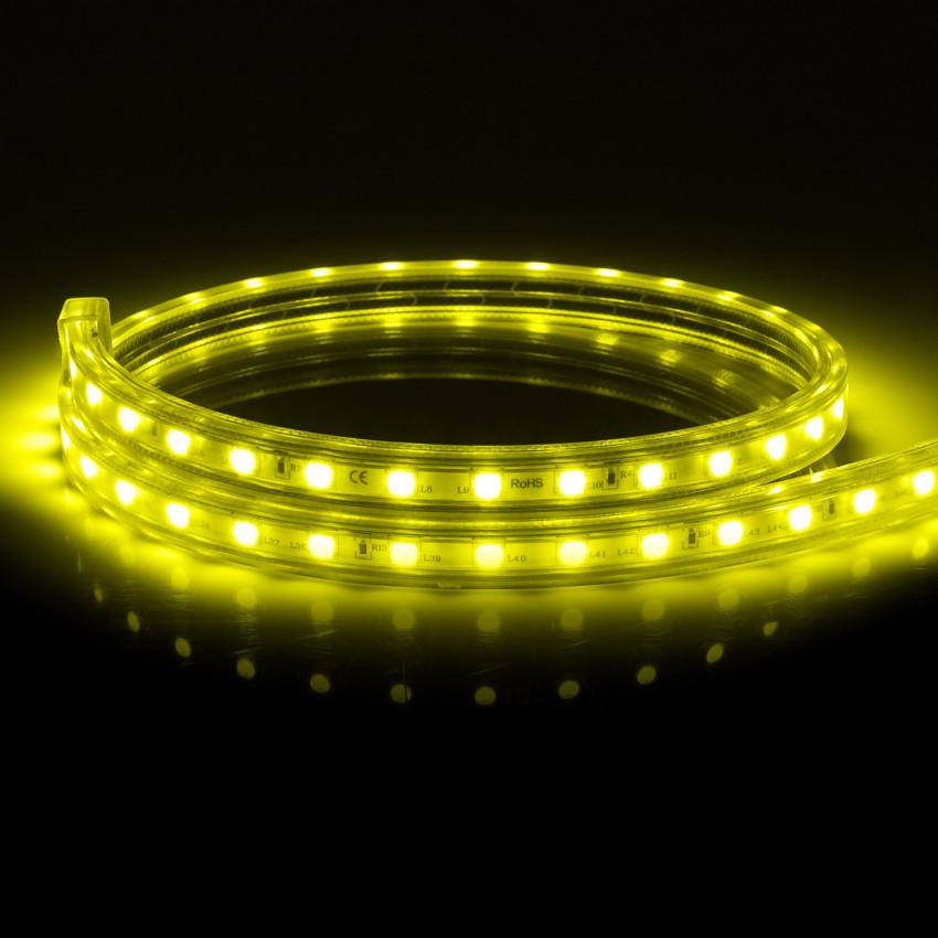 Fita LED Regulável  220V AC 60 LED/m Amarelo IP65 à Medida Corte cada 100cm