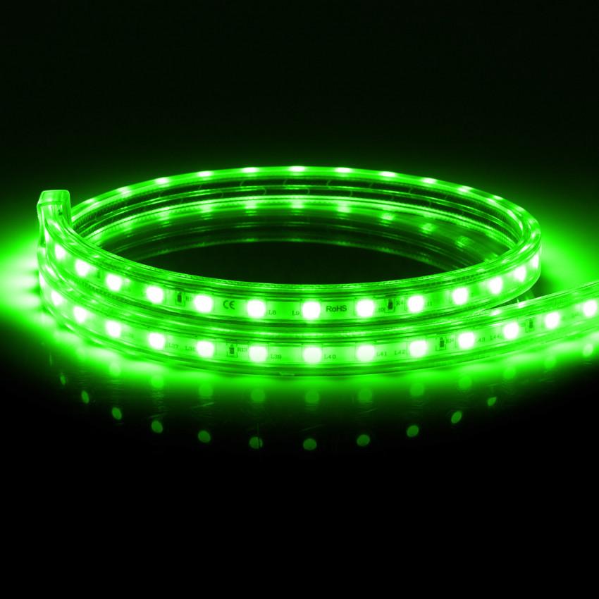Fita LED Regulável 220V AC 60 LED/m Verde IP65 à Medida Corte cada 100cm