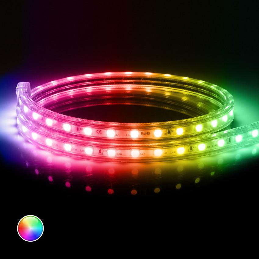 Fita LED 220V AC 60 LED/m RGB IP65 à Medida