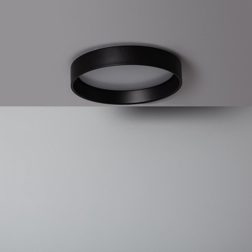 Plafón LED 20W Circular Design Negro CCT Seleccionable