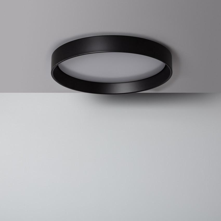 Plafón LED 30W Circular Design Negro CCT Seleccionable