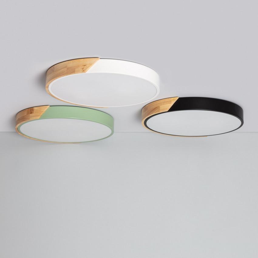 Plafón LED 24W Circular Semi-Dari CCT Seleccionable