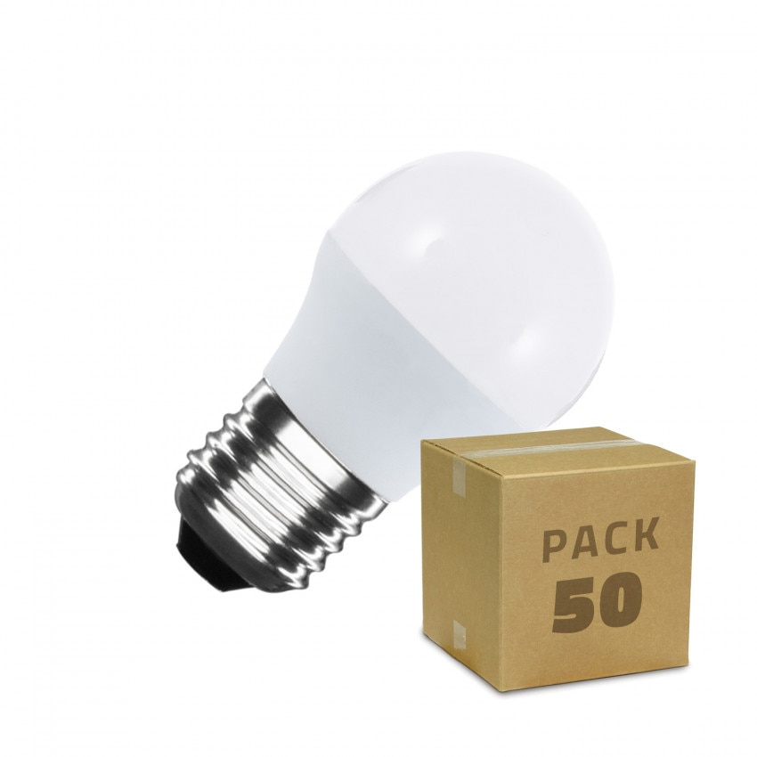 Caixa de 50 lâmpadas LED E27 G45 5W Branco Frio