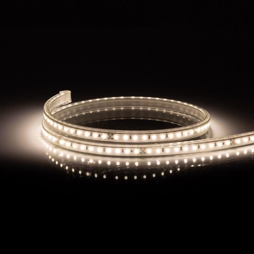 Tira LED 220V AC 100 LED/m Blanco Neutro IP67 CRI85 a Medida Corte cada 10 cm