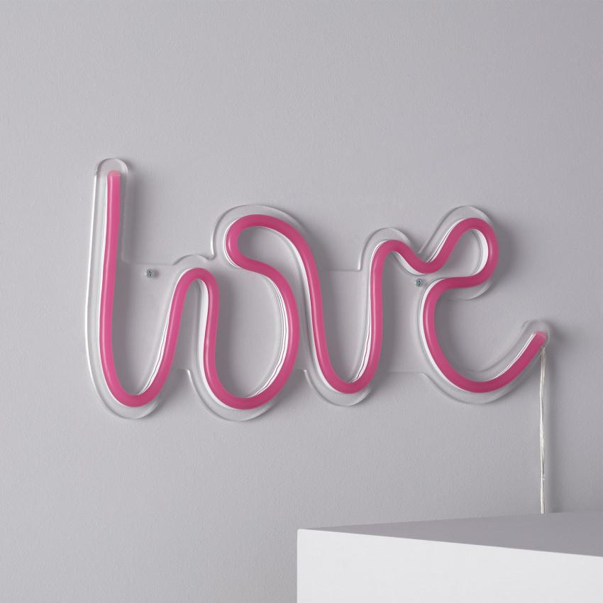 """Letreiro Neon """"LOVE"""""""