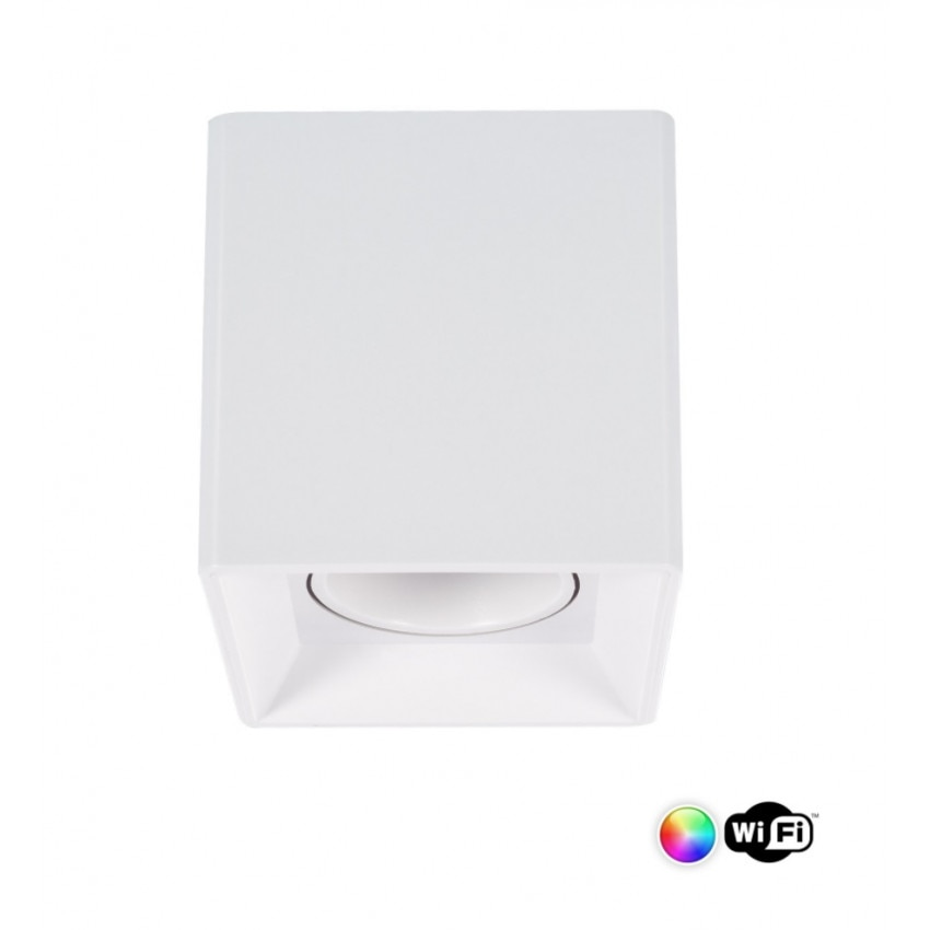Aplique de Teto Jaspe PC Branco Smart WiFi Regulável RGBW 4W