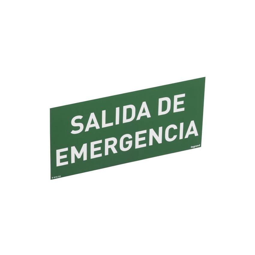 Etiqueta de Señalización Salida de Emergencia LEGRAND 661683