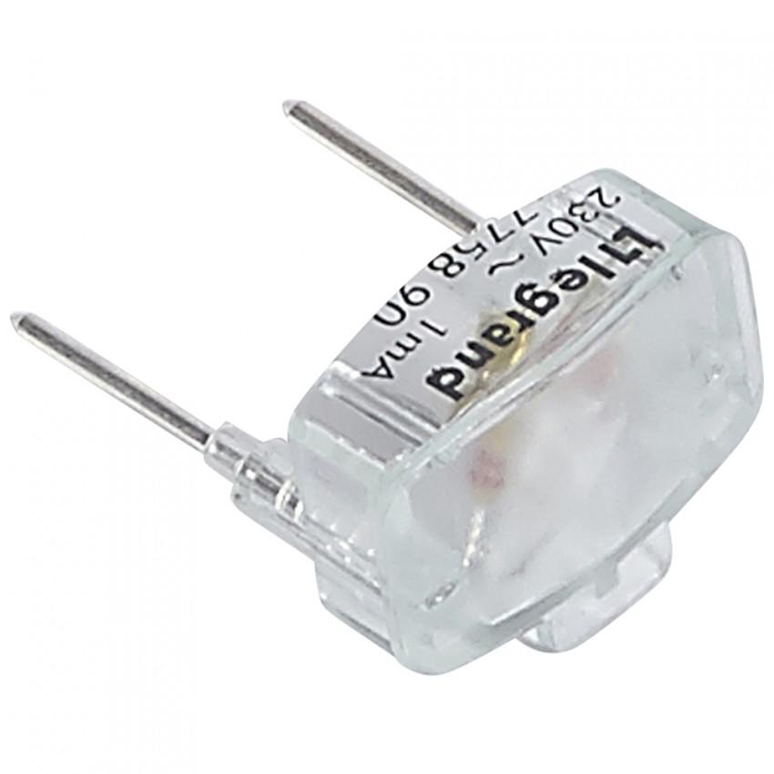 Lámpara de Recambio Plexo para Función Piloto para Pulsador Simple 230V 1mA LEGRAND 069496