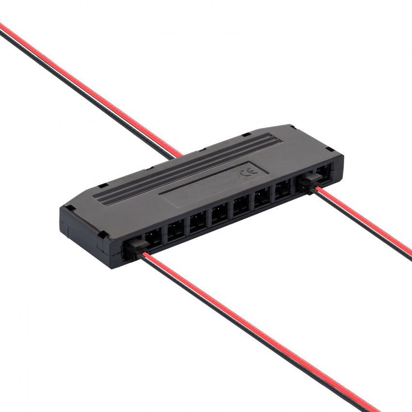 Kit Conector Distribuidor con 6-10 salidas + cables conectores de 5m para alimentación Tiras LED 12/24V