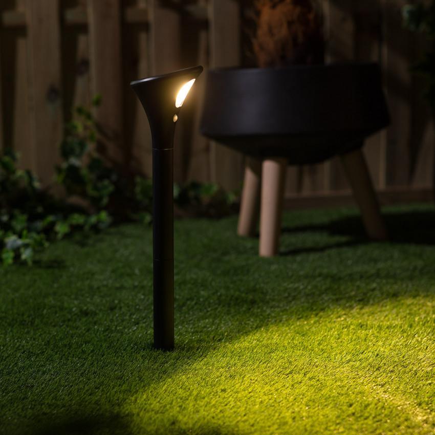 Baliza LED Solar Phare com Detector de Movimento PIR com Espeto 0.5W