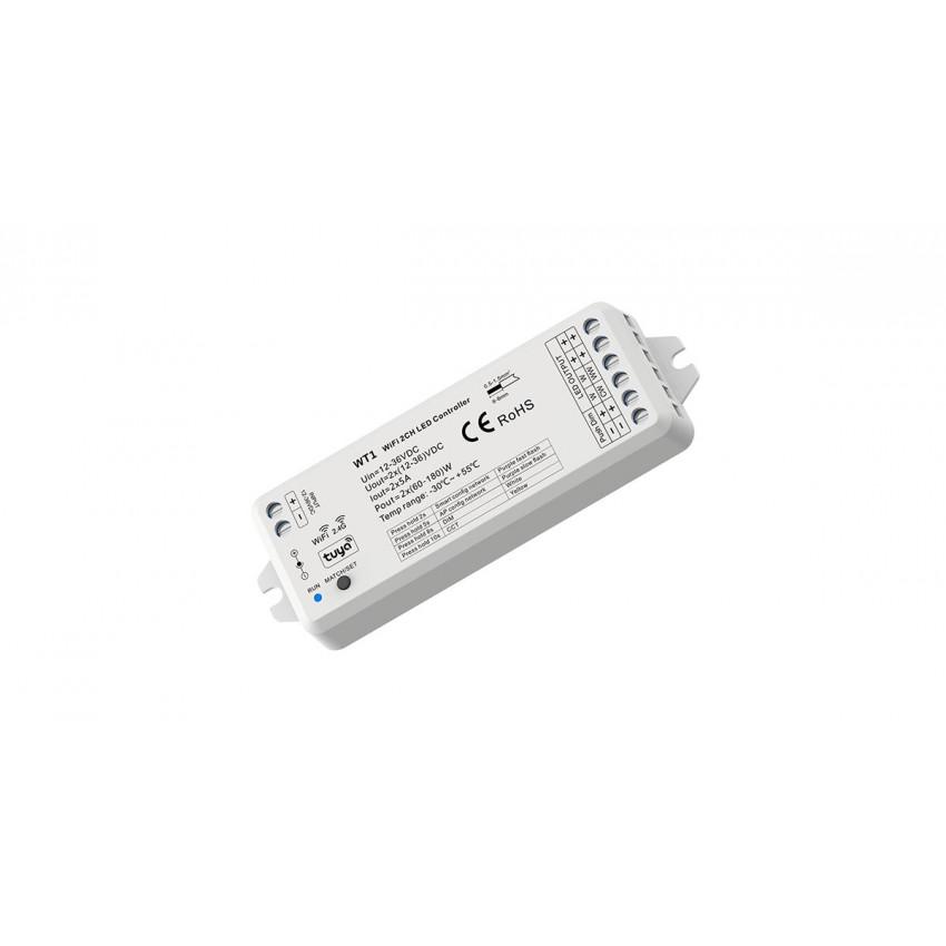 Controlador Smart WiFi 2 Canales para Tira LED Monocolor y CCT