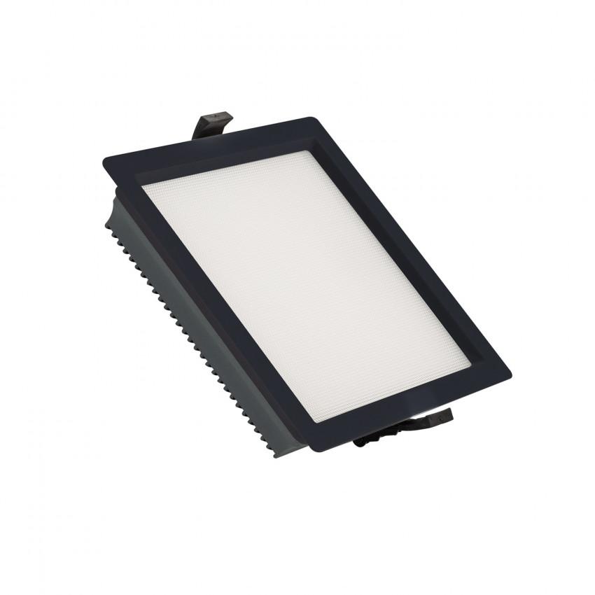 Downlight LED 25W SAMSUNG New Aero Slim Quadrado 130 lm/W (URG17) LIFUD Preto Corte 165x165 mm