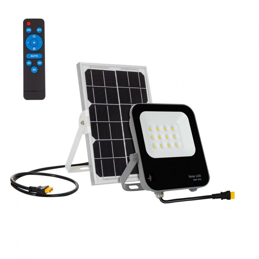 Foco Projetor LED 30W Solar 170 lm/W IP65 com Controlo Remoto