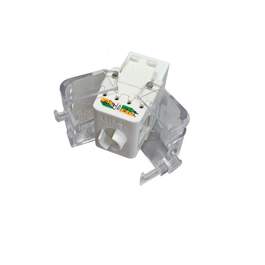 Conector Slim Hembra UTP RJ45 CAT6 tool-less