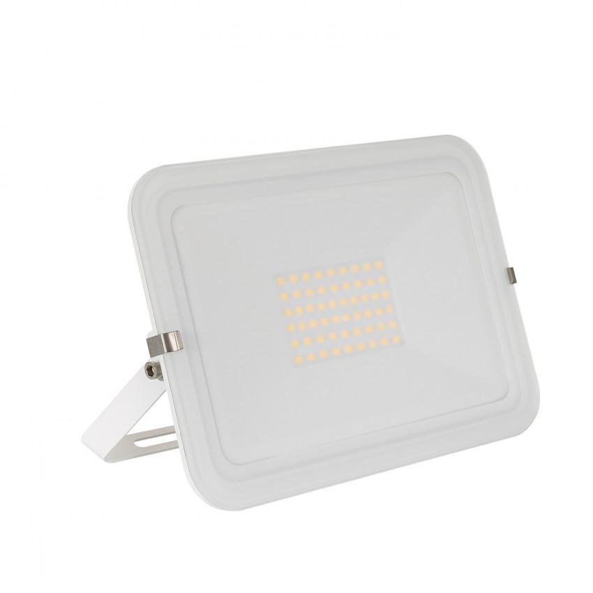 Foco Proyector LED 50W 120lm/W IP65 Slim Cristal Blanco
