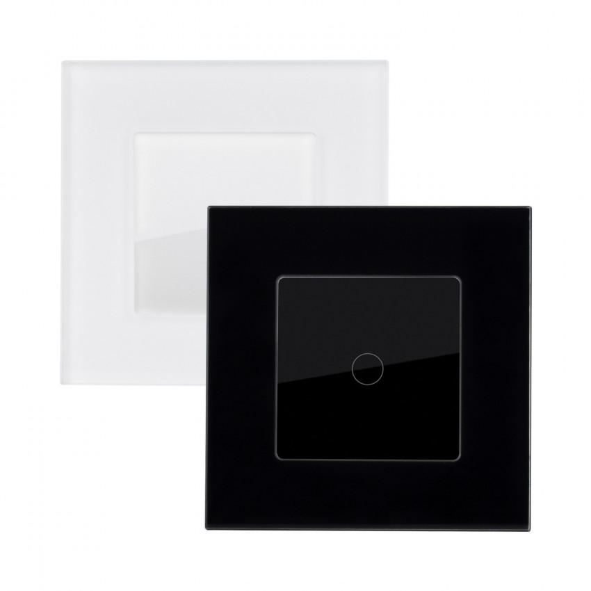 Interruptor Táctil Simple Conmutado con Marco Cristal Modern