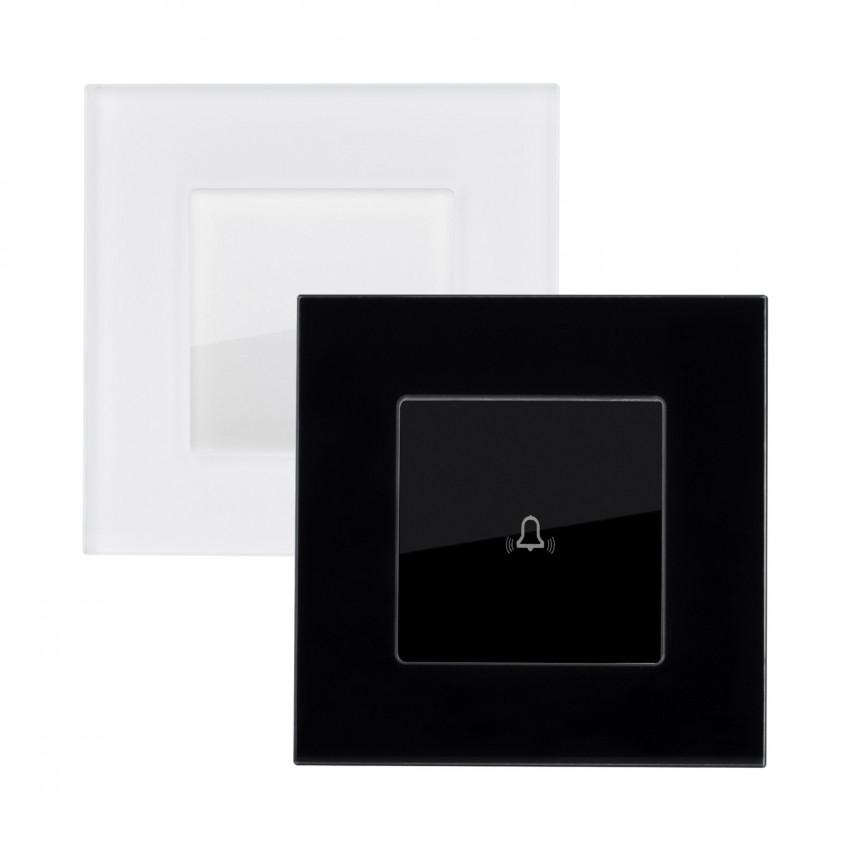 Interruptor Táctil Simples Pulsador com Moldura de Vidro Modern