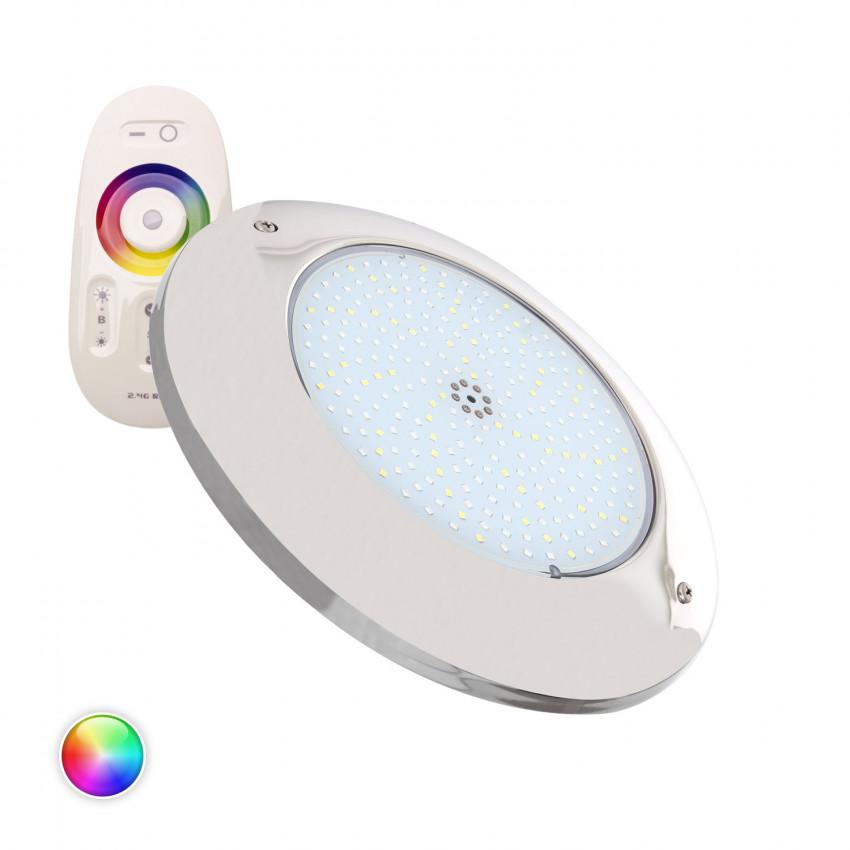 Foco Piscina LED Superficie RGBW 12V DC Aço Inoxidável 20W