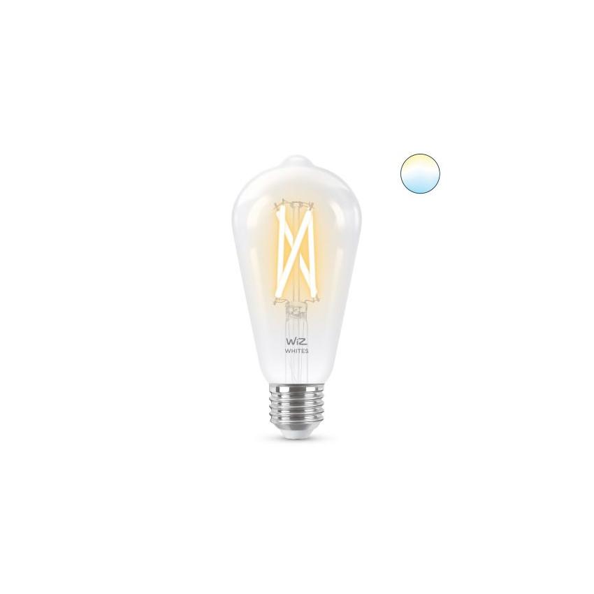 Lâmpada LED Smart WiFi E27 ST64 CCT Regulável WIZ Filamento 6.7W