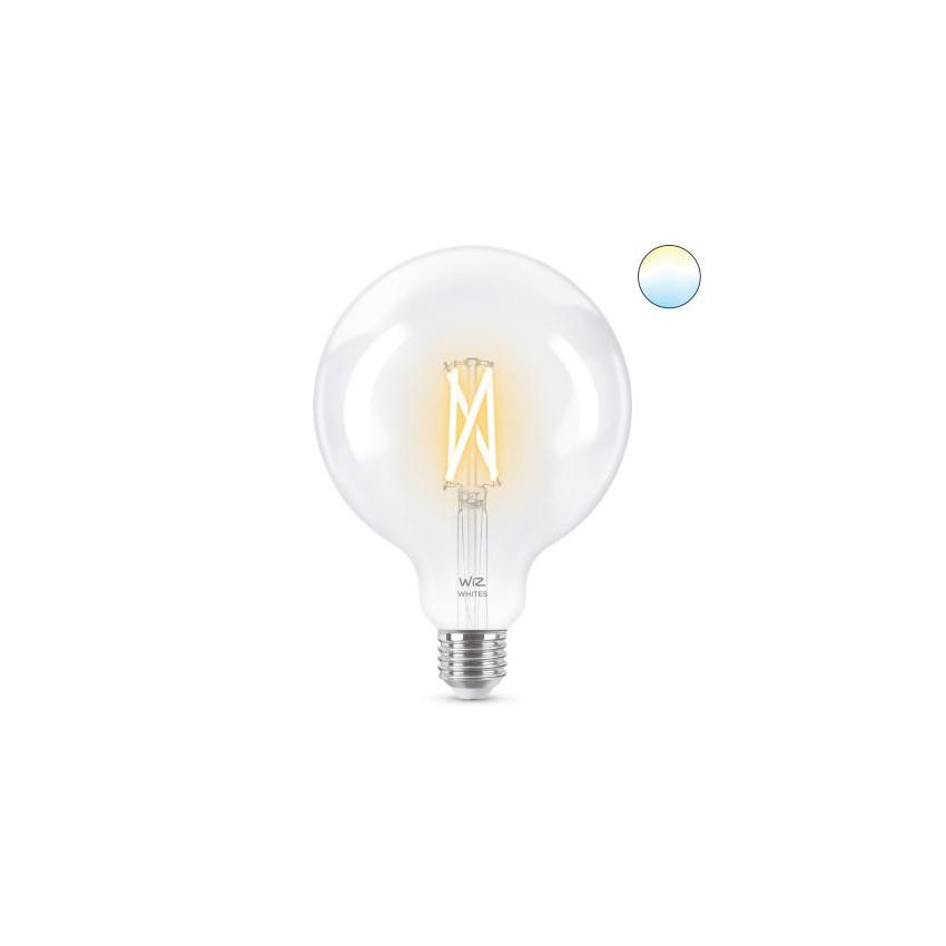 Bombilla LED Smart WiFi E27 G120 CCT Regulable WIZ Filamento 6.7W