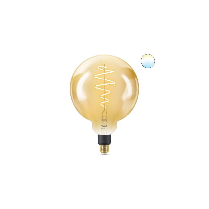 Lâmpada LED Smart WiFi E27 G200 Regulável WIZ Filamento Vintage 6.5W