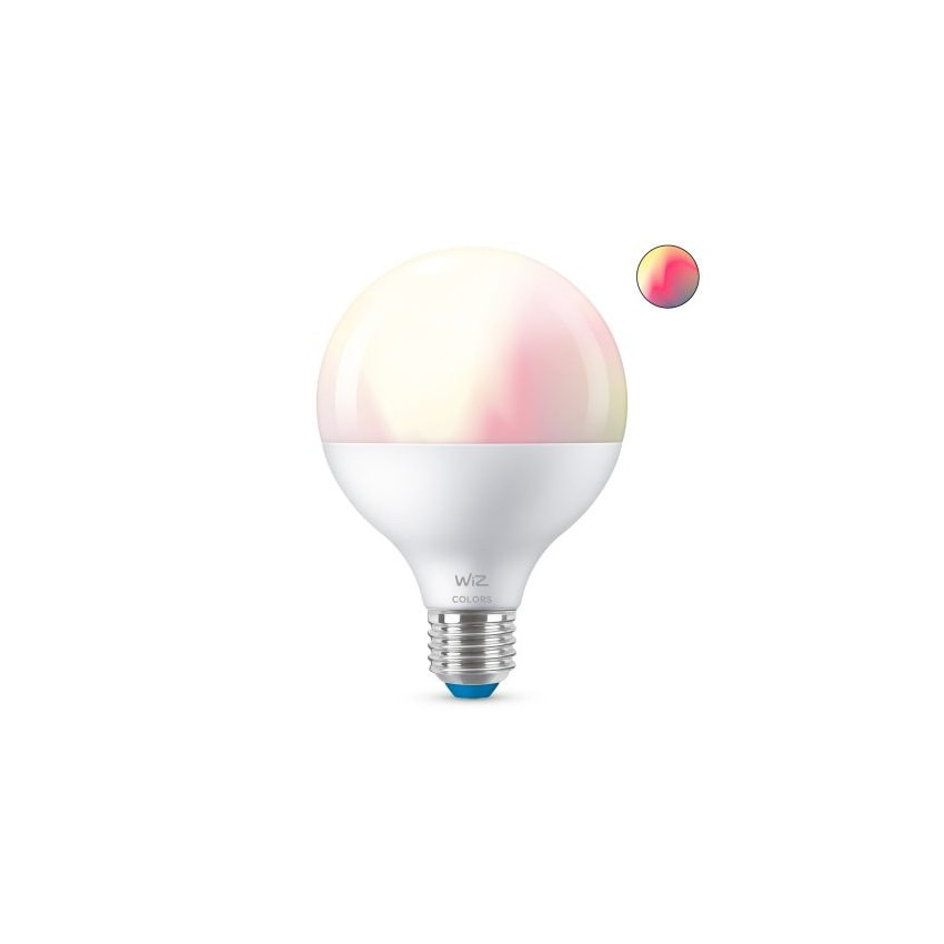 Bombilla LED Smart WiFi + Bluetooth E27 G95 RGB+CCT Regulable WIZ 11W