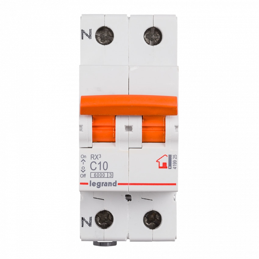 Interruptor Automático Magentotérmico RX3 Residencial 1P+N 6kA 10-40 A LEGRAND 419925