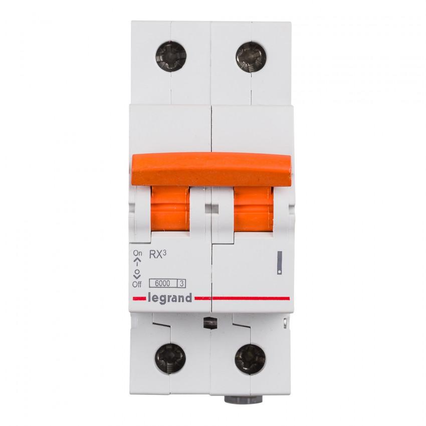 Interruptor Automático Magnetotérmico RX3 Residencial 2P 6kA 10-40 A LEGRAND 419934