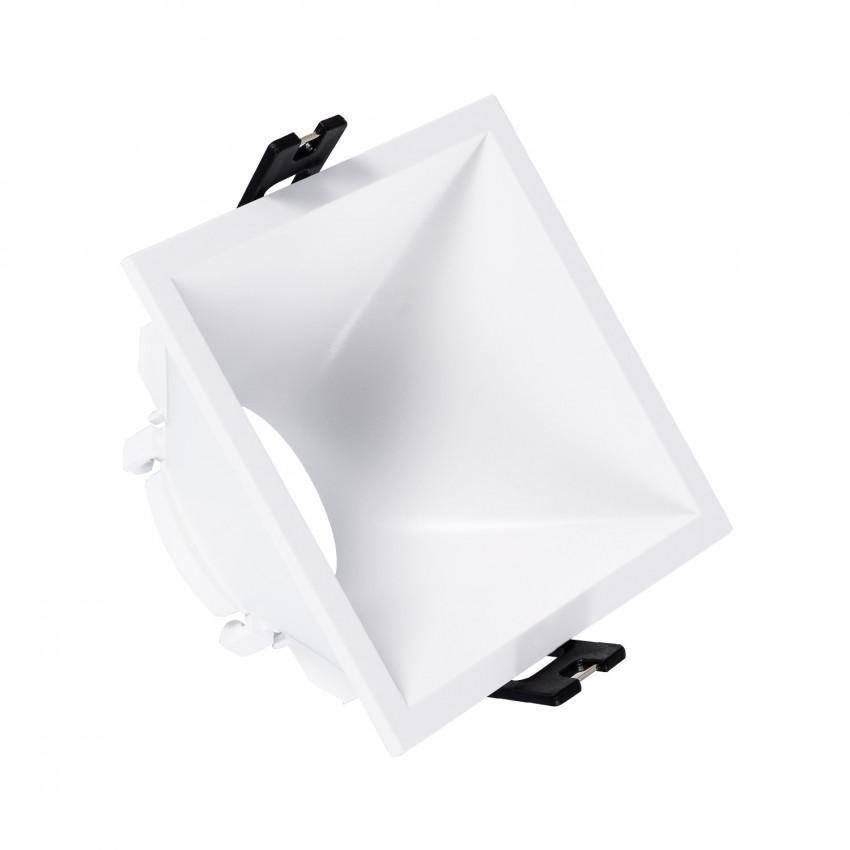 Aro Downlight Quadrado 45º Baixo UGR PC para lâmpada LED GU10 / GU5.3