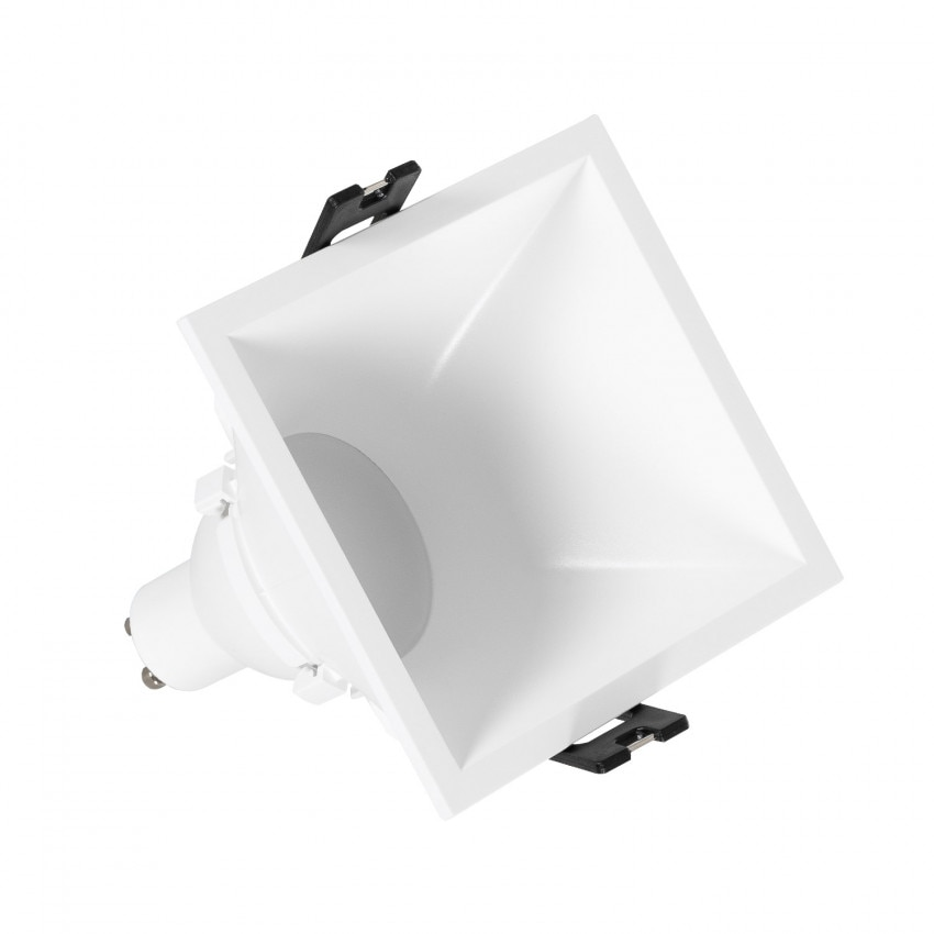 Foco Downlight Quadrado 45º GU10 6W Corte 85x85 mm baixo URG PC